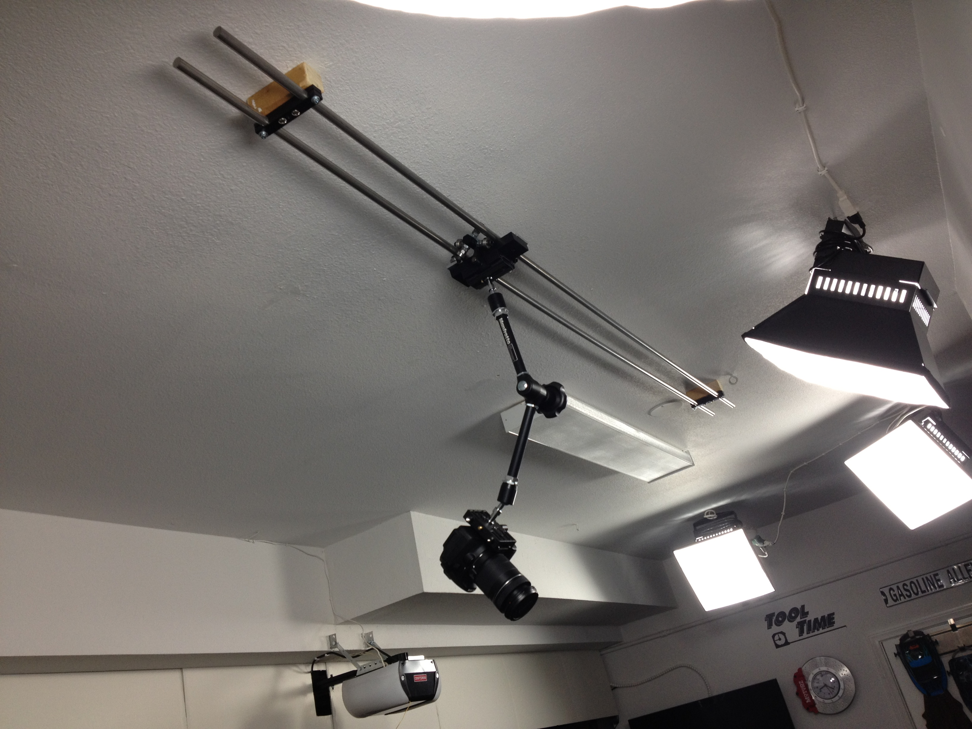 the 8-foot ceiling mounted diy camera slider