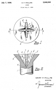 Phillips Screw Patent 2046343