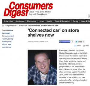 Chris Duke in Consumers Digest Magazine