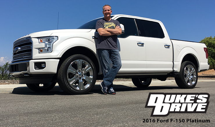 Duke S Drive 2016 Ford F 150 V6 Supercrew Platinum Limited Edition