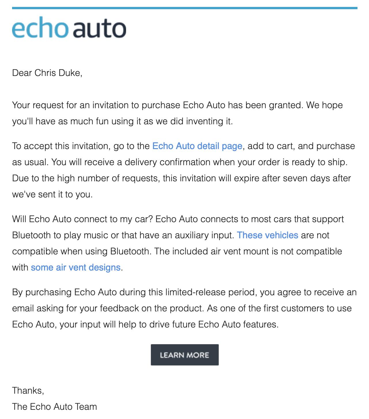 Amazon Alexa Echo Auto Reviewed - Chris Duke